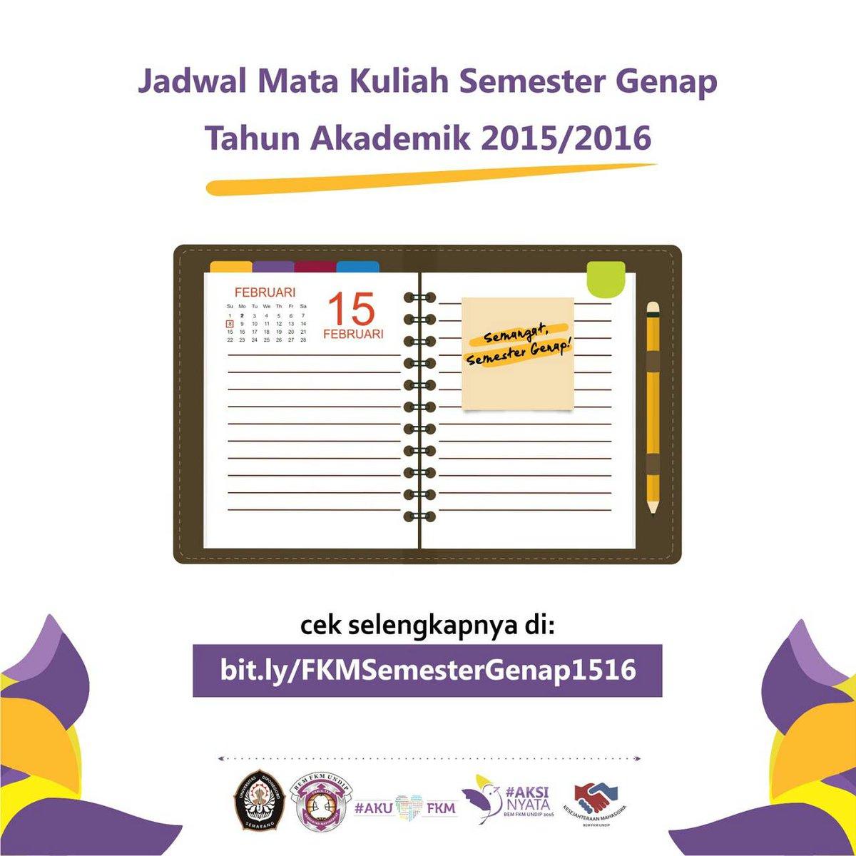 Bem Fkm Undip On Twitter Yuk Download Jadwal Kuliah Semester Genap Di Link Berikut Httpst Cotslqbxmj Selamat Menikmati Sisa Liburan
