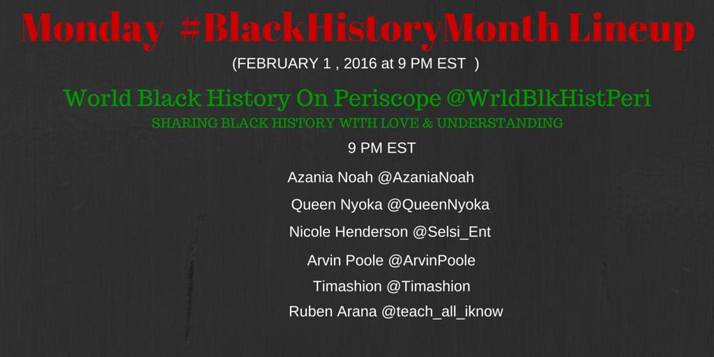 Thumbnail for #BlackHistoryMonth Monday Feb. 1 2016