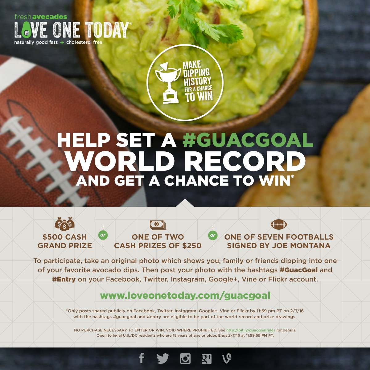 Make dipping history for a chance to #WIN cash prizes! Rules: https://t.co/YzLxsvZYTp #GuacGoal https://t.co/nRv81ejGgL