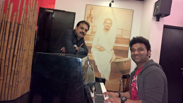Devi Sri Prasad and Koratala Siva during music sessions for Janatha garage. Janatha garage NTR, Koratala Siva, DSP music, Devi Sri Prasad, NTR 26, latest news, and Trends, Southie.in South indian film industry, South Indian stars, South Indian celebrities,
