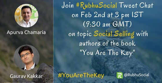 Gear up folks! #RubhuSocial chat will begin in 15 mins. We shall talk with authors of the book #YouAreTheKey https://t.co/AYo5loCc5w