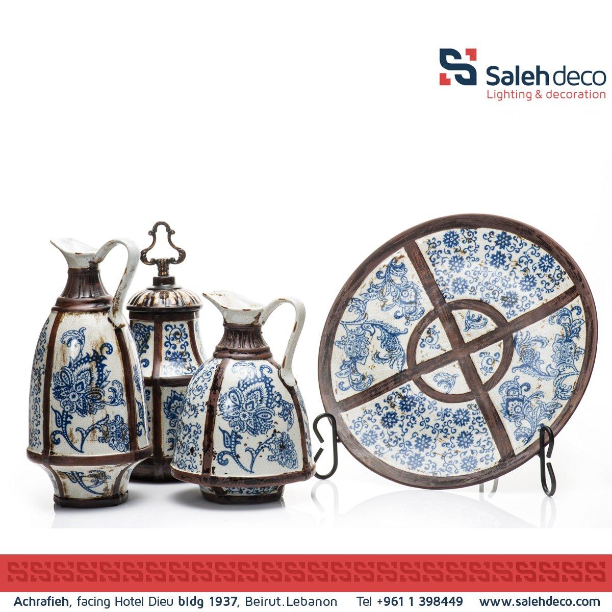 #Beautiful set of #blue #Antique #tableware collection designed for your #authentic house. #design #art #salehdeco https://t.co/GEwQS9jj4C