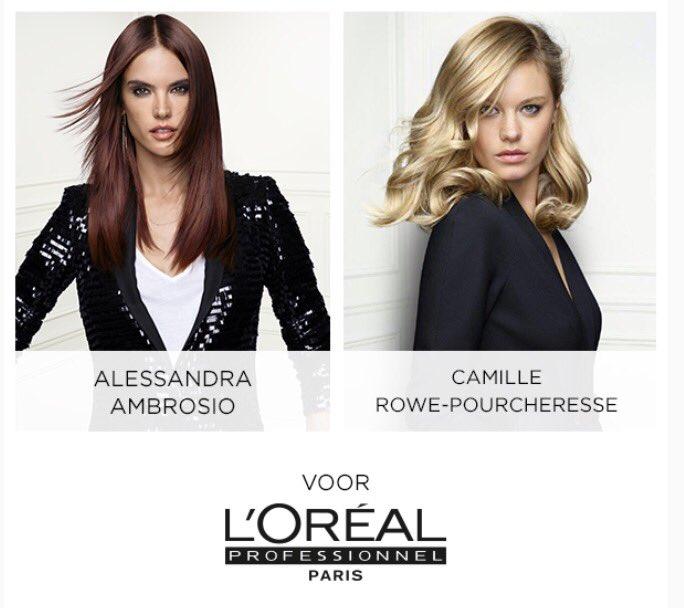 Alessandra Ambrossio & Camille Rowe-Pourcheresse for L'Oréal Professionnel. #lorealpronl #glamteam #hair # proud https://t.co/UCHrzqM13D