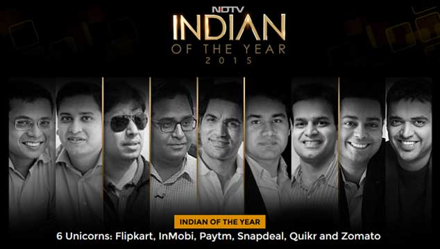 Honored to be the #NDTVIndian of the Yr. Yes, us & 5 other Unicorns, but also great recognition for all #startups https://t.co/1F6VovchUX