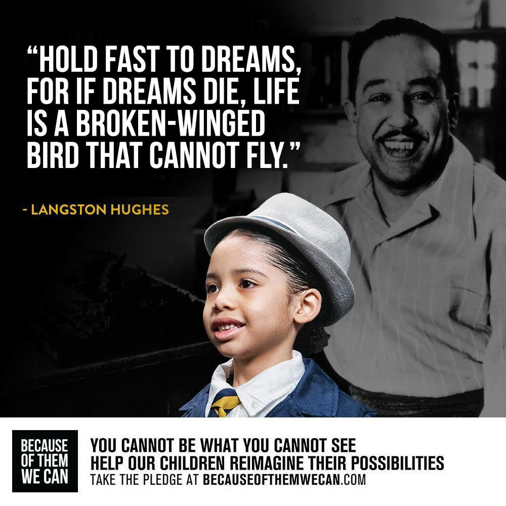 Celebrating the life and legacy of langstonhughes blackhistorymonth becauseofthemwecan