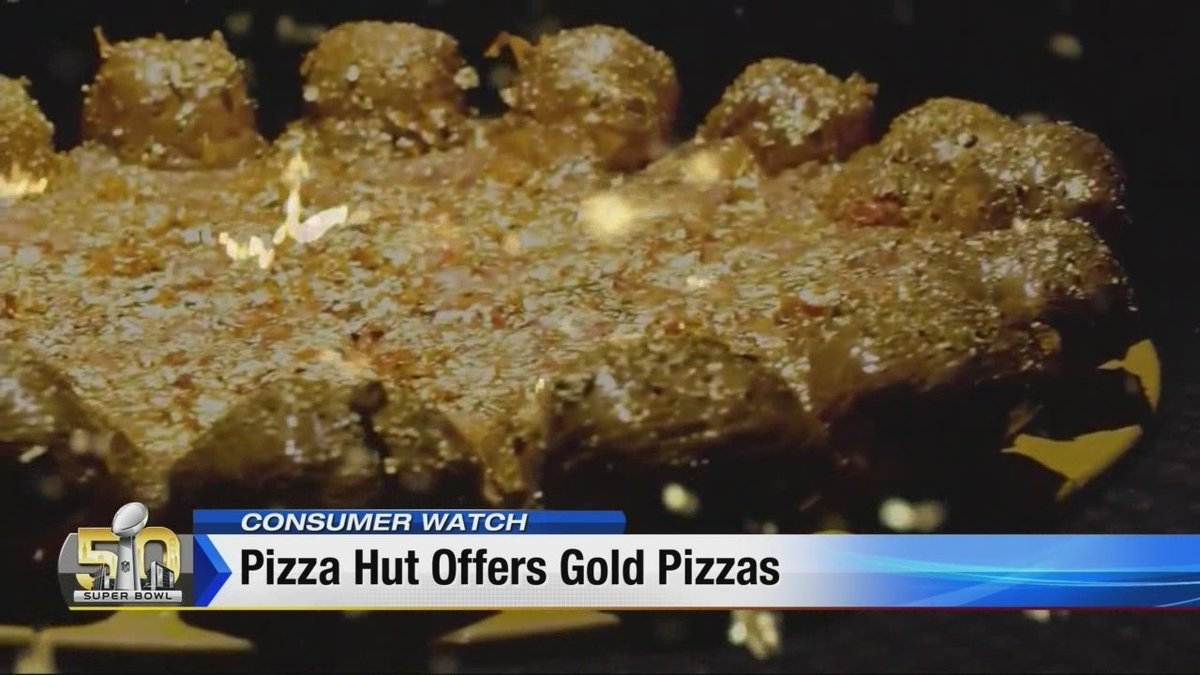 Pizza Hut Offering Gold Covered Pizza For Super Bowl 50 Scoopnest Com