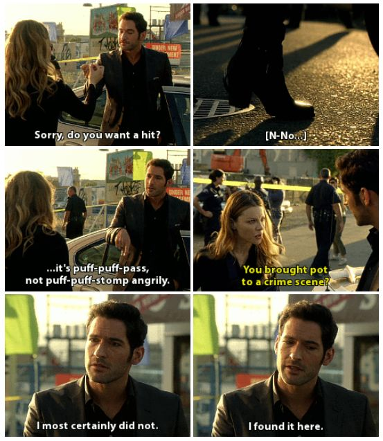 "Lucifer Morningstar Home: Mishi ♡ On Twitter: """"You Smoked Evidence?"" #lucifer"