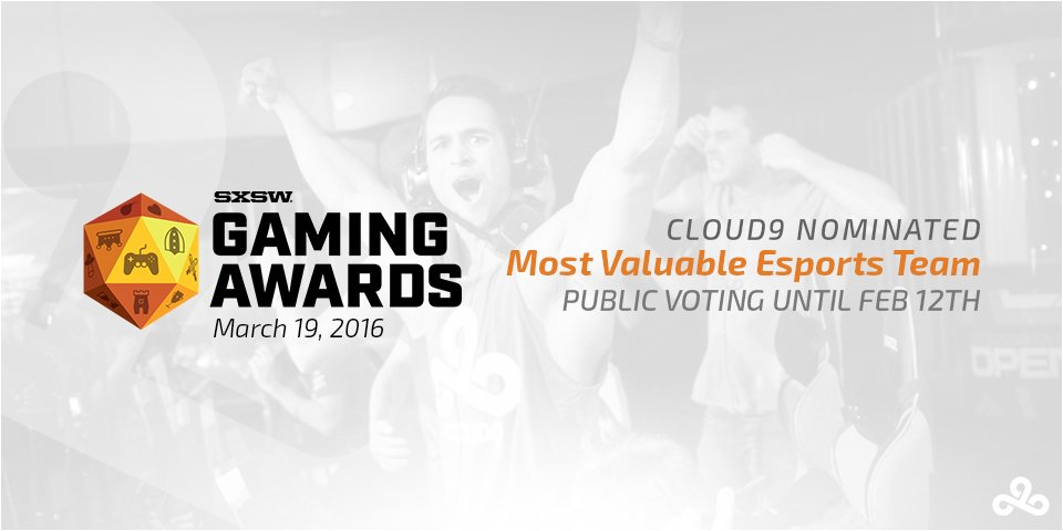 #C9HYPE! We&#39;re nominated for @sxsw&#39;s Most Valuable Esports Team award! #SXSWGamingAwards  https:// youtu.be/H3eLwD6IhU8  &nbsp;  <br>http://pic.twitter.com/xUxU2701At