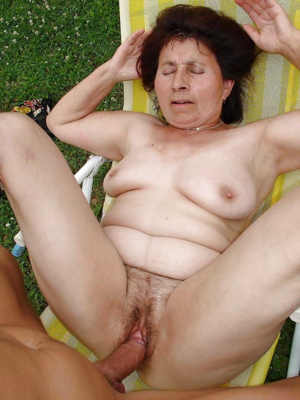 image Filthy old mom in nurse uniform wild masturbation