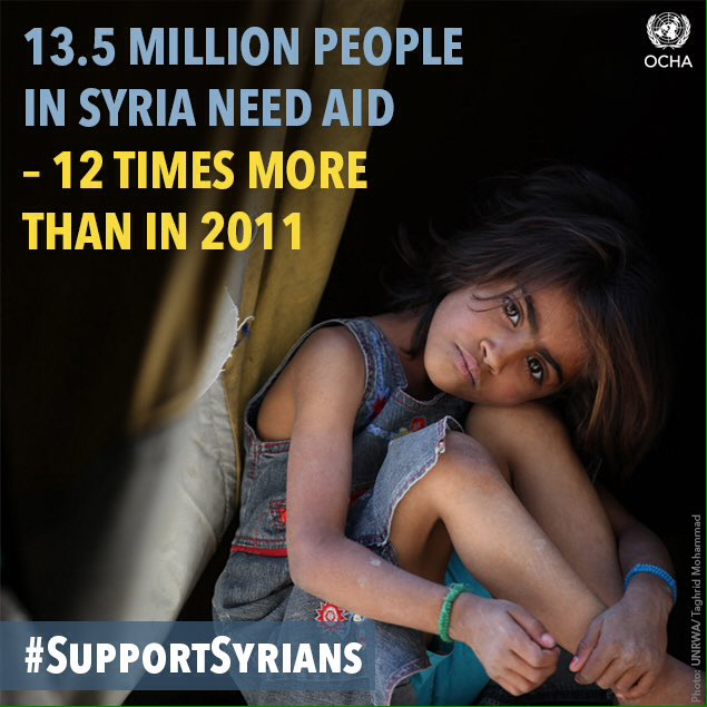 5 years of conflict. 250,000 dead. More than half the country displaced. Feb 4 & always, we must #SupportSyrians https://t.co/RaPRzV6oi5