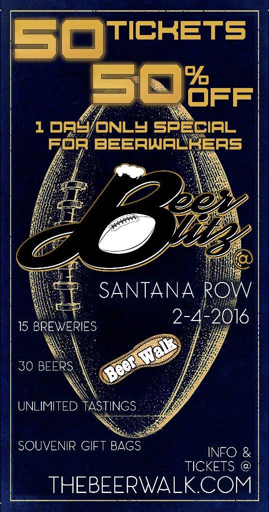 OFFER: 50% off tickets w/ code LOYAL for Santana Row #BeerBlitz! https://t.co/CRvedXSEza https://t.co/2zrDVzBr08