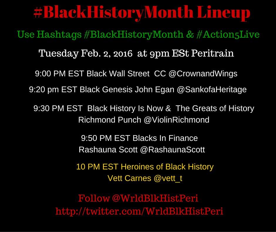 Thumbnail for #BlackHistoryMonth Tues. Feb. 2 2016