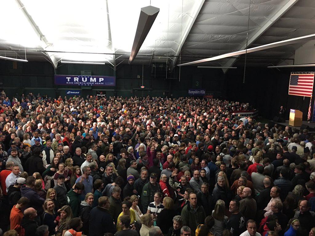 NH @realDonaldTrump event tonight ain't small. https://t.co/s0D0rkHBTM