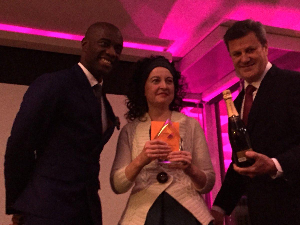 A massive congratulations to @KDaviesdesigns Microbusiness of the year winner #FSBWorldpayAwards https://t.co/PJjQmIkuuA
