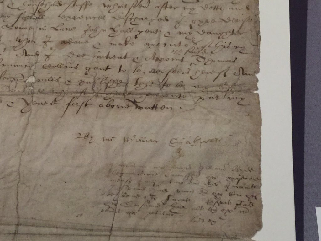 #Shakespeare's signature on his will, on exhibit with other @UkNatArchives documents: https://t.co/tl2ImZIzu6 https://t.co/wZW0eyaTQ5