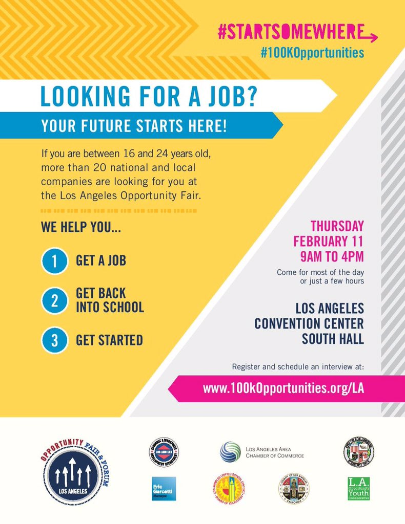 We are 9 days away from this massive event! #100kOpportunities Fair should be your next step toward new #Careers