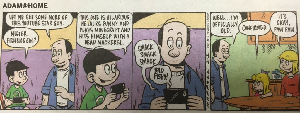 this newspaper comic is vagueposting about pewdiepie https://t.co/2oBmZf7gA5