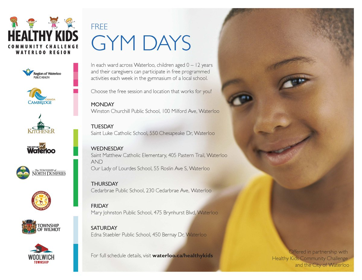 Drop in to local gyms for free fun! (ages 0-12 at locations across town) https://t.co/a2bRNfW3zc #healthykidsWR https://t.co/ps8ob3IXuG