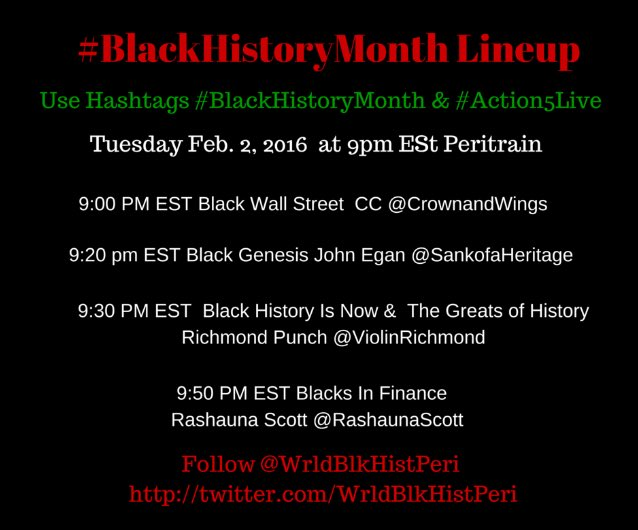 Thumbnail for #BlackHistoryMonth #Action5Live Feb. 2 2016
