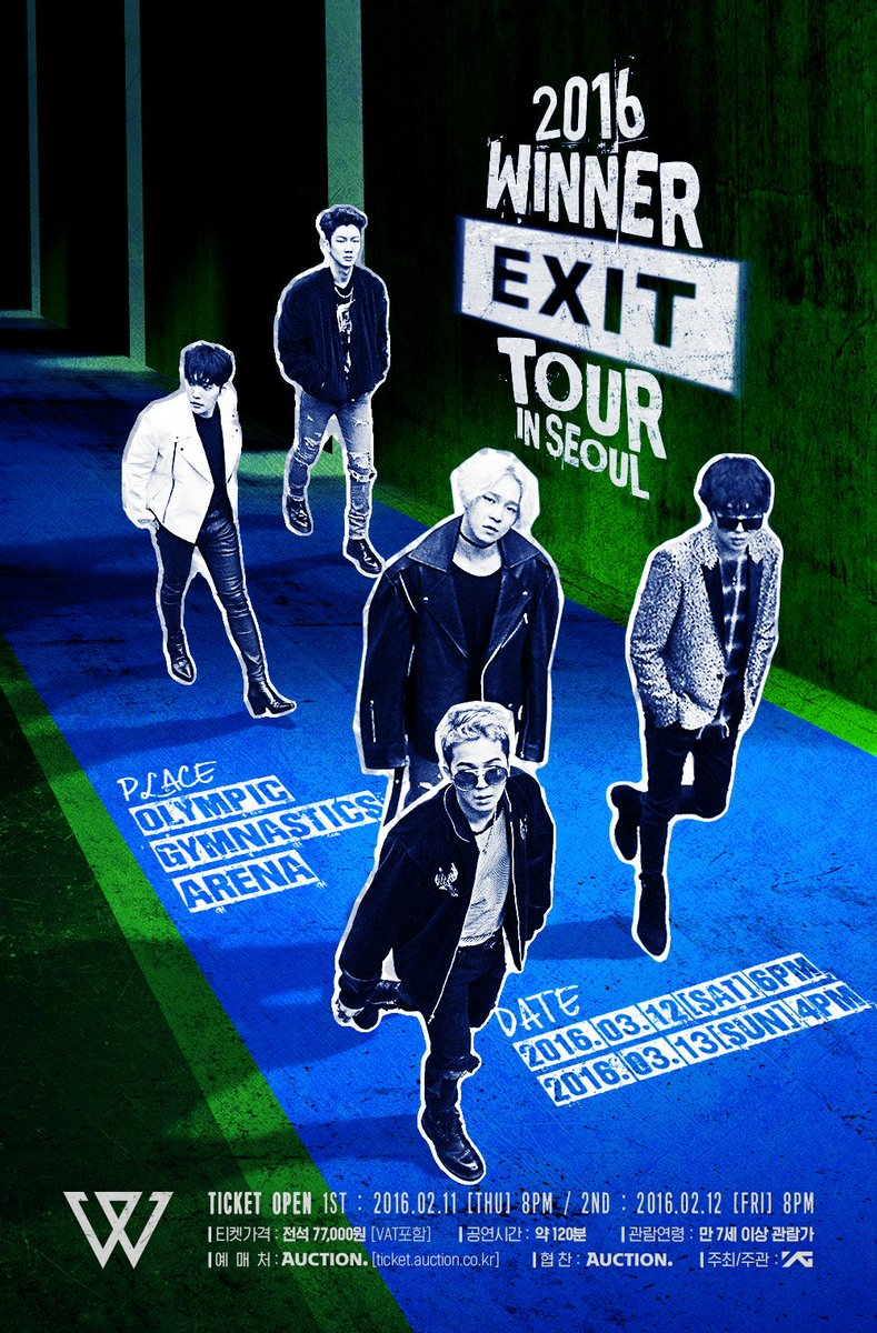 [WINNER - 'EXIT TOUR' IN SEOUL] More info @ https://t.co/0FuRpGons3 #WINNER #위너 #EXIT #TOUR #SEOUL