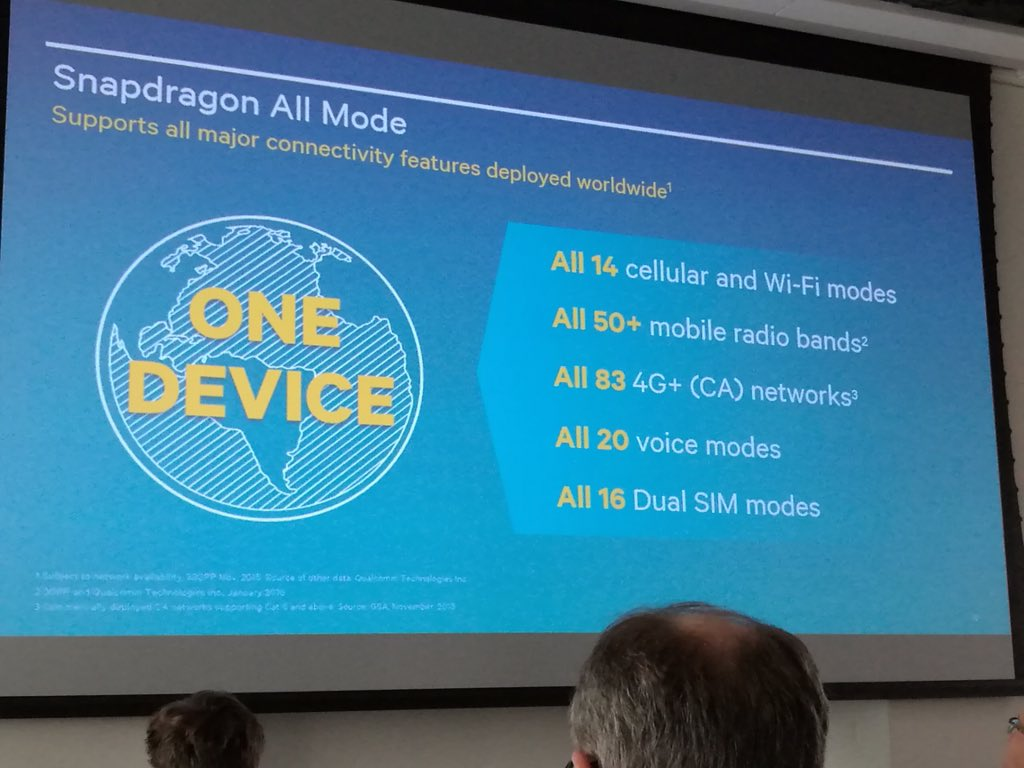 """There is """"world mode"""", then there's Qualcomm Snapdragon """"all mode"""". This is not easy to do. https://t.co/0JzrS8lrgS"""