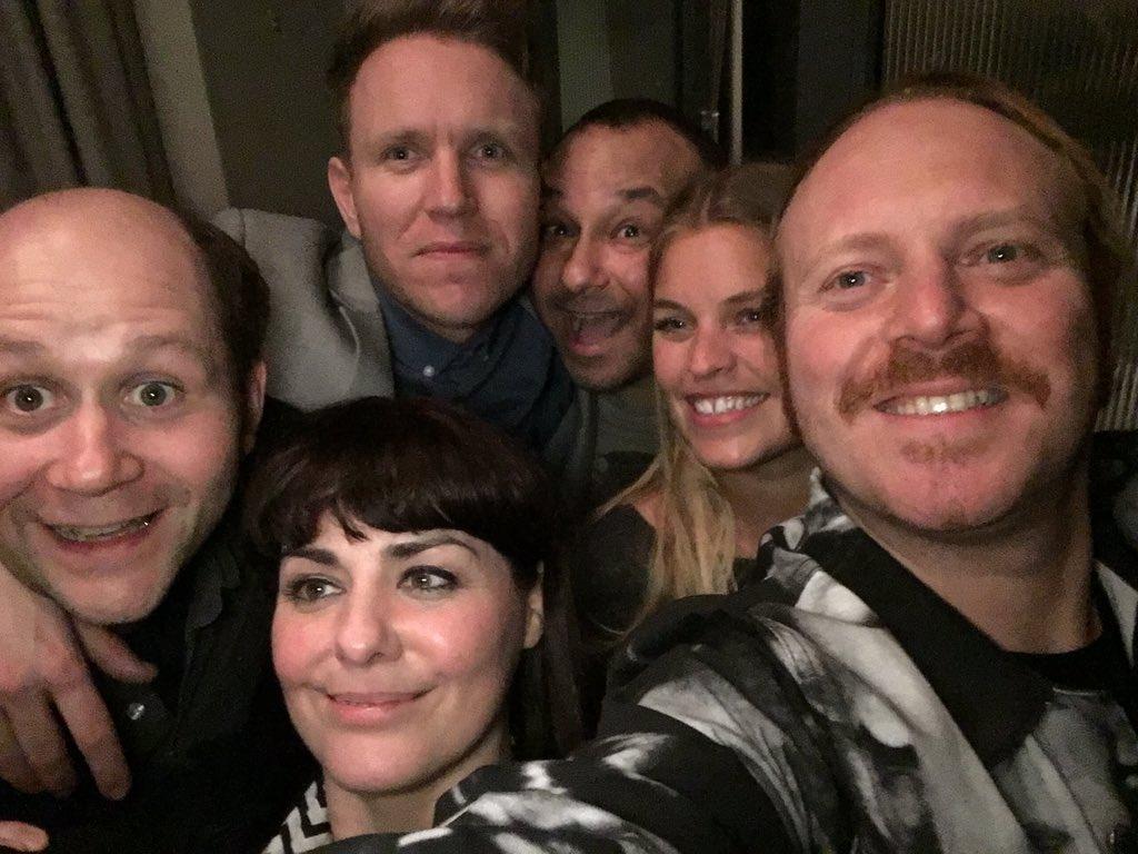 Sketch show team all boozed up last night. Big cheers team! https://t.co/ti2rkcKtug