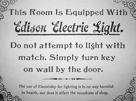 Original Edison Electric Light Sign