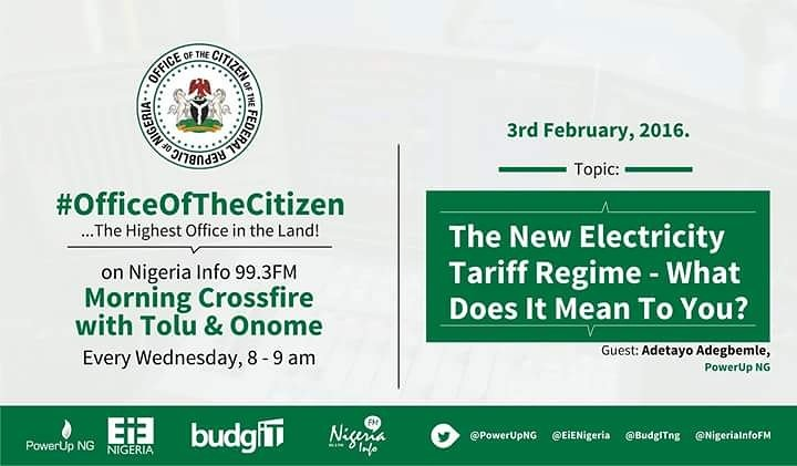 Thumbnail for #OfficeOfTheCitizen - The New Electricity Tariff Regime