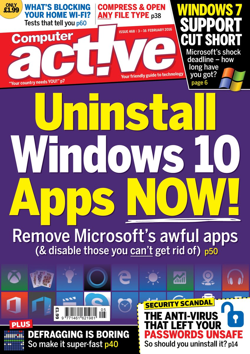 Our new issue tells you how to uninstall awful Windows 10 apps - here's the cover to look out for... https://t.co/V6MgrWAxwr