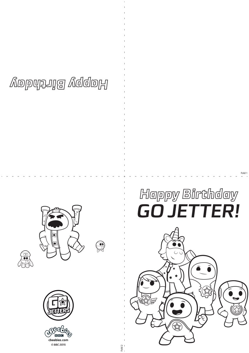 Go Jetters on Twitter Got any birthdays coming up Download – Birthday Cards to Print and Colour