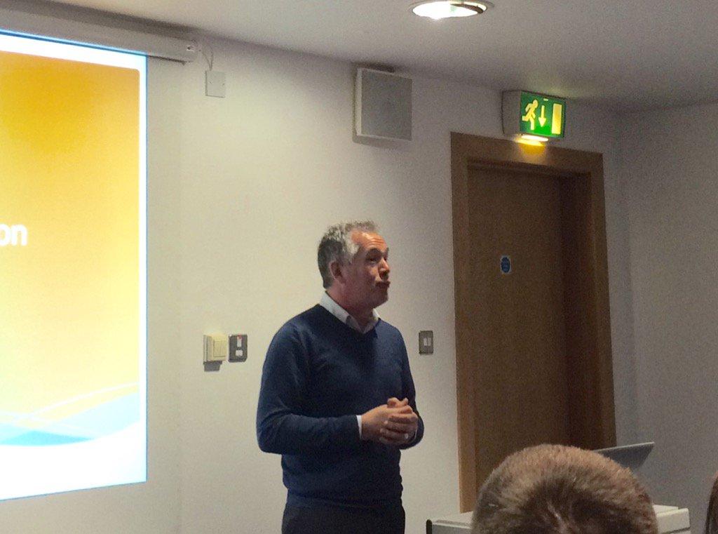 Malcolm @simpsinns kicks off Food & Drink event @TasteAyrshire @BuyAyrshire #wellconnected