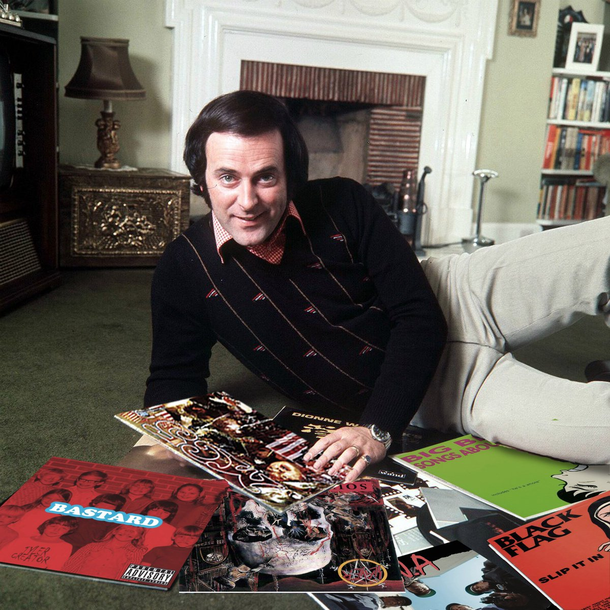 Relaxing at home with the music he loved the most. RIP Wogan. https://t.co/q28Ap9zBR6