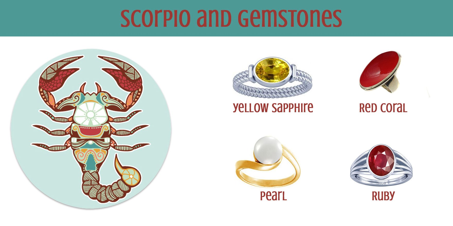 Scorpio And Gemstone