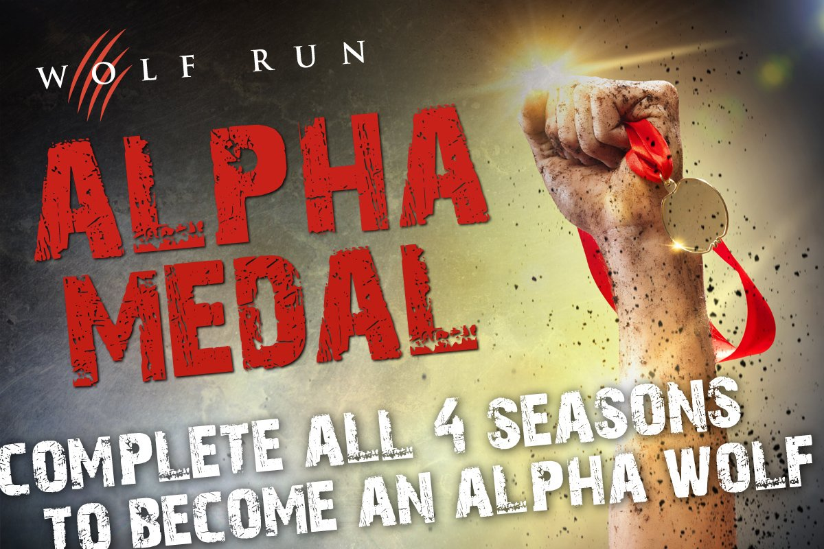 Image result for wolf run 2018 alpha medal