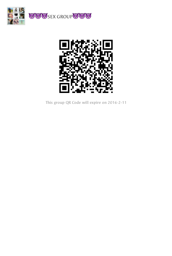 Something is. group code sex wechat qr against