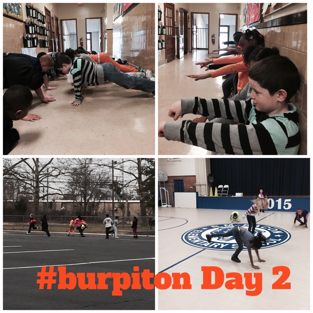 @burp_it_on day 2 complete! 25 burpees, 25 jacks, 5 min cardio, 1 min walk sit, 45 sec plank. #rmbacon #play60 https://t.co/99DuEHBmft