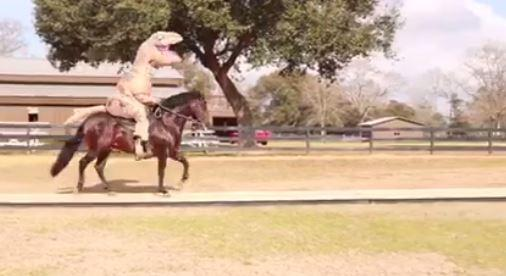 VIRAL VIDEO Mississippi man rides horse while wearing dinosaur costume » // & Viral video: mississippi man rides horse while wearing dinosaur ...