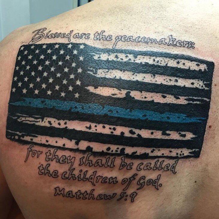 American Flag Ring Tattoo