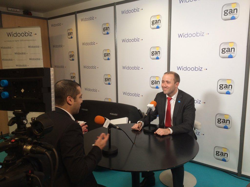 Bertrand Van Overshelde VP PME Salesforce interviews @Widoobiz #salondesentrepreneurs <br>http://pic.twitter.com/STLaxhG88o