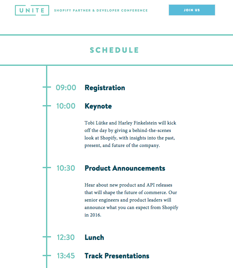 It's the moment you've all been waiting for: the schedule for #shopifyunite is here! https://t.co/pCRlSss9BT https://t.co/ALnjgNXpP2