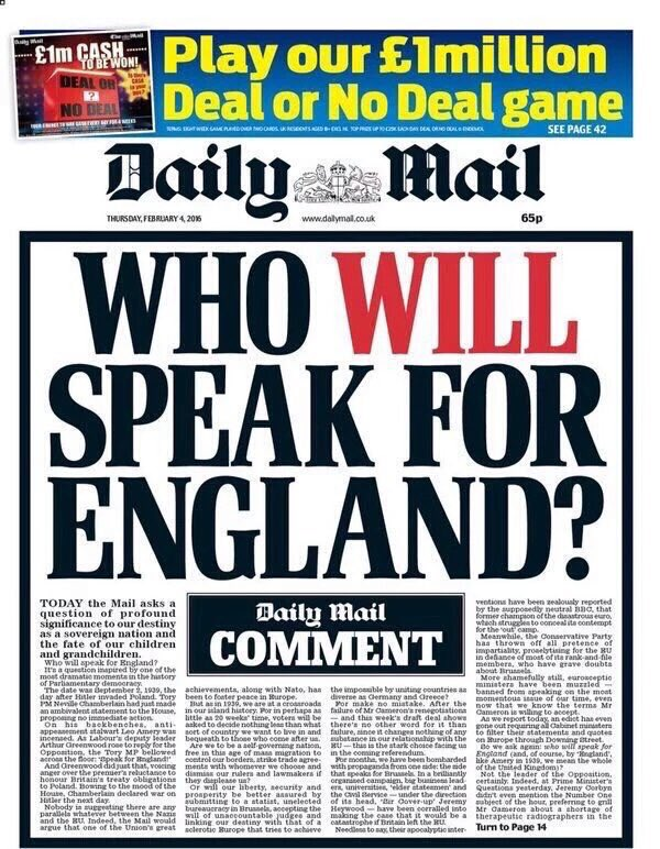 tbh it's obvious #WhoWillSpeakForEngland https://t.co/M1RMs9tfxf