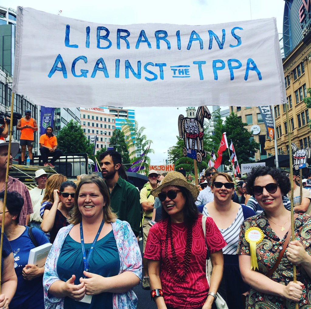 We are #Librarians against the #TPPA #TPPANOWAY #aklLIFE feat some peeps you may know https://t.co/eEVO1T8eUV