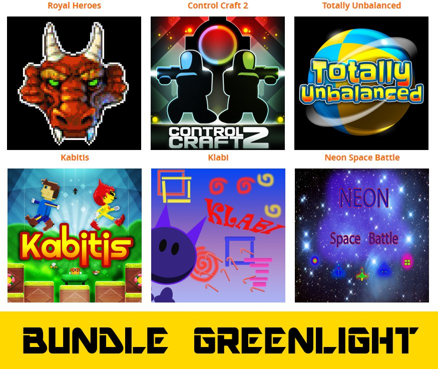 Please share and support #Greenlight #BUNDLE 2 \\\\\ 2 of 6 games are greenlit! ///// http://www.otakumaker.com/ #indie