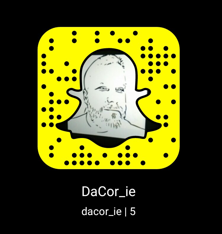 snapchat username is dacor_ie