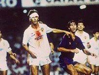 87-88, Camp Nou. Un VCF recién ascendido y lleno de canteranos. Escudo, humildad y la cabeza abierta de Bossio. 0-1. https://t.co/2X4ltOgoqC
