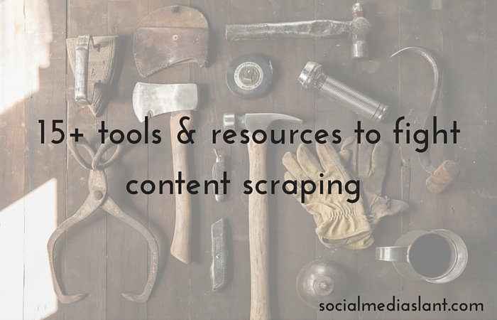 Fight content scraping with this list of #resources by @cendrinemedia https://t.co/UhjWjSGYuE #blogging https://t.co/9R2K8R9Xqu