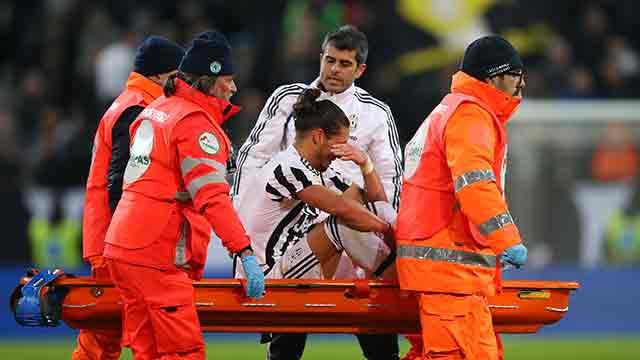 Juventus, stagione finita per Caceres