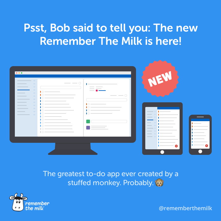 The new Remember The Milk is here!