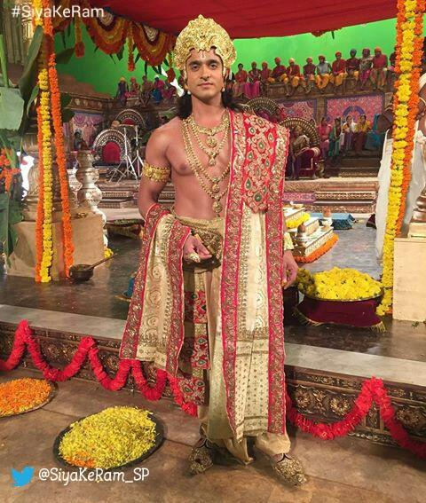 Ashish Sharma as Ram in Siya Ke Ram -wedding sequence off screen picture