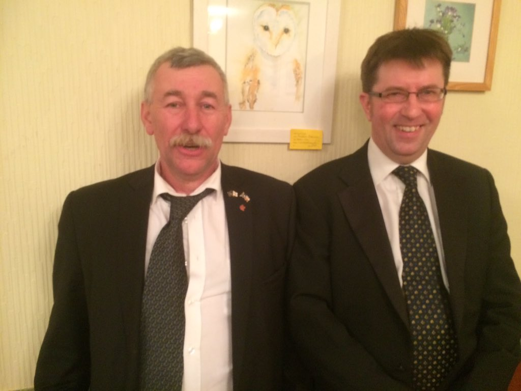 Our newly raised Bro Bullock (right) with our WM WBro Roberts, a most excellent evening had by all
